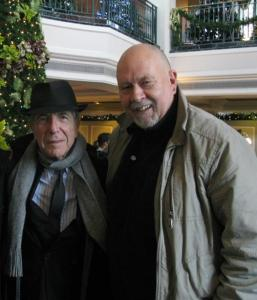 Leonard Cohen  and Michael Bromfield